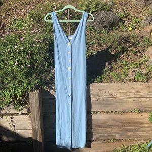 Zara denim pocketed maxi dress